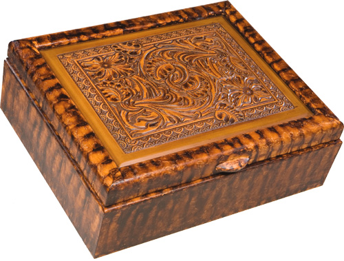 Tooled Box Rustic Gifts Men S Jewelry Box Handmade In The Usa