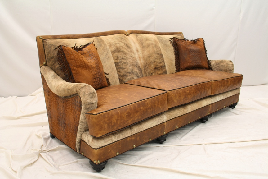 Western Sofa Living Room Furniture Cowhide Made