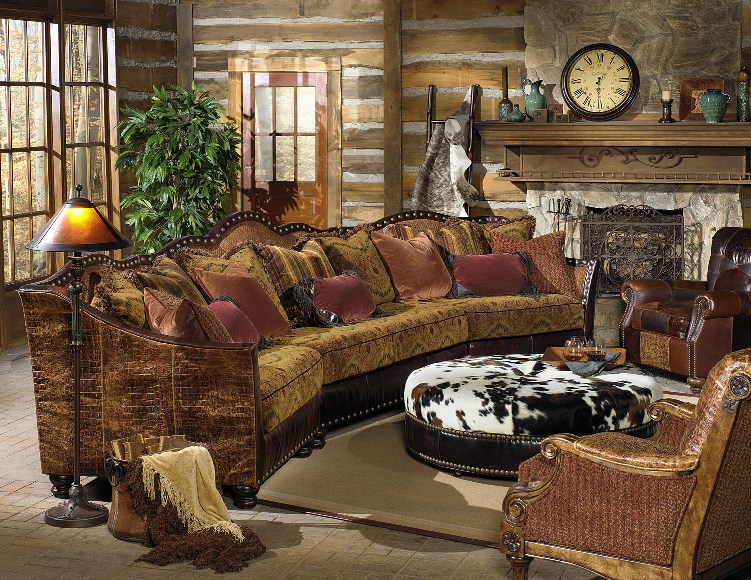 Western Sectional Rustic Sectional Western Family Room Anteks Home Furnishings