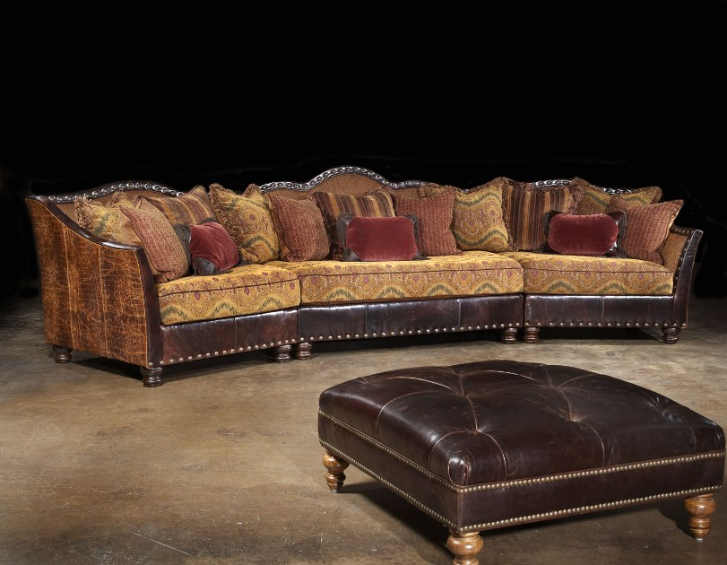 Western 3-Piece Sectional : rustic leather sectional sofa - Sectionals, Sofas & Couches