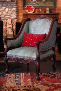 Rustic Chair Ranch Chair Turquoise Chair Rustic Bergere