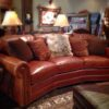 brown leather sofa accent pillows