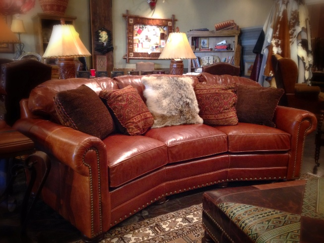 Rustic Leather Sofa Rustic Sofa Dallas Western Sofa