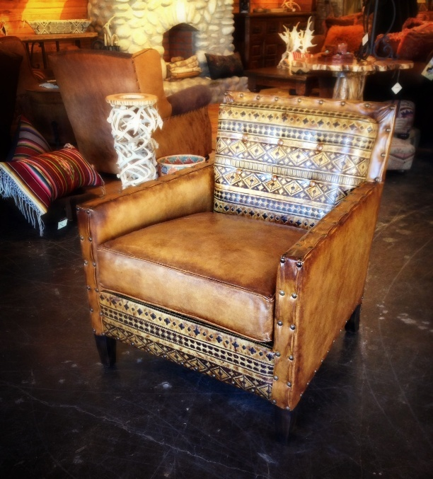 Rustic Leather Chair Rustic Chair Dallas Western Chair Dallas Southwestern Chair Dallas