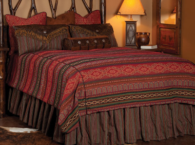 canyonlands bedding set in reds greens and brown