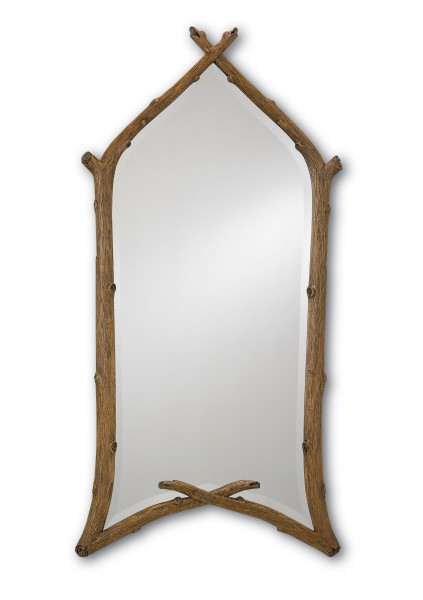 carved twig mirror #1051