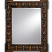 jacobean style carved mirror #1050