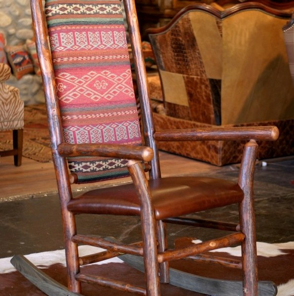rustic old hickory rocker - Old Hickory Furniture