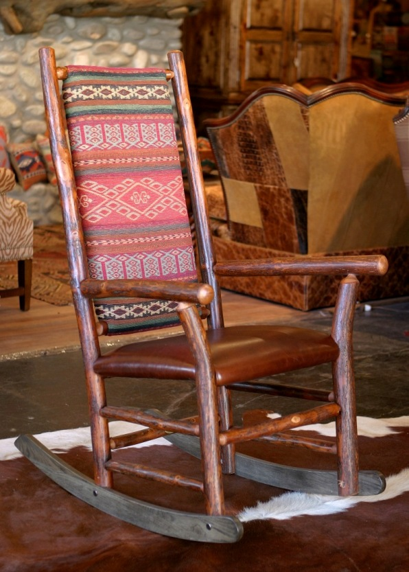 Old Hickory Rocking Chair Rustic Rocking Chair Western