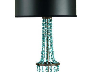 turquoise table lamp #6407