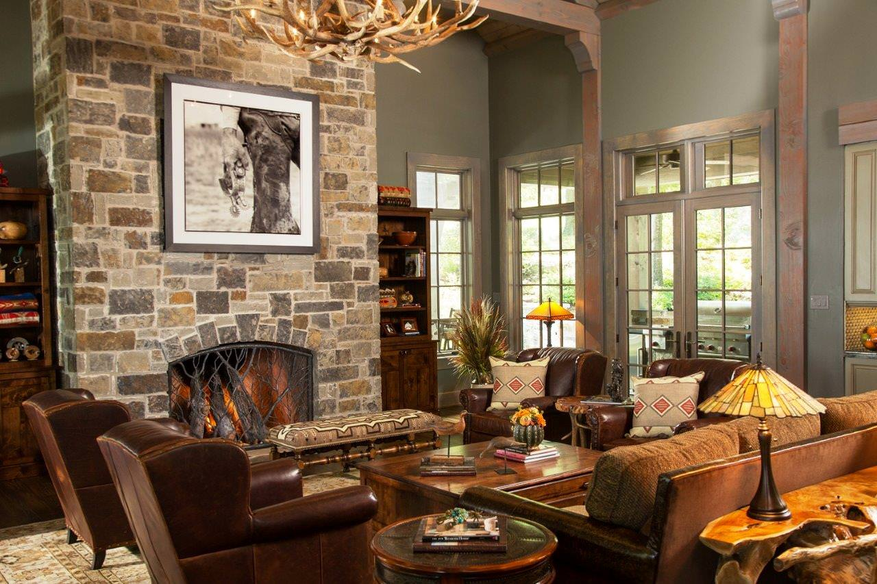 Warm Inviting Rustic Living Room