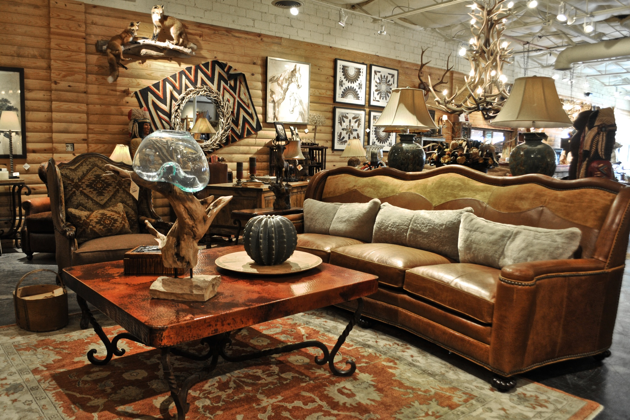 rustic living room furniture at anteks furniture store in dallas