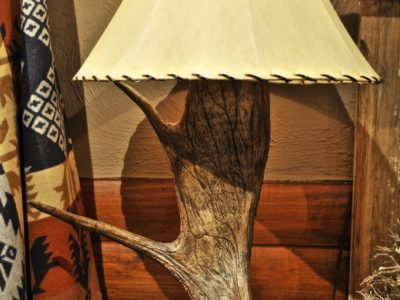 carved moose table lamp, eagle