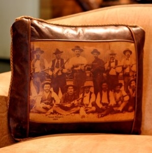 texas rangers leather pillow