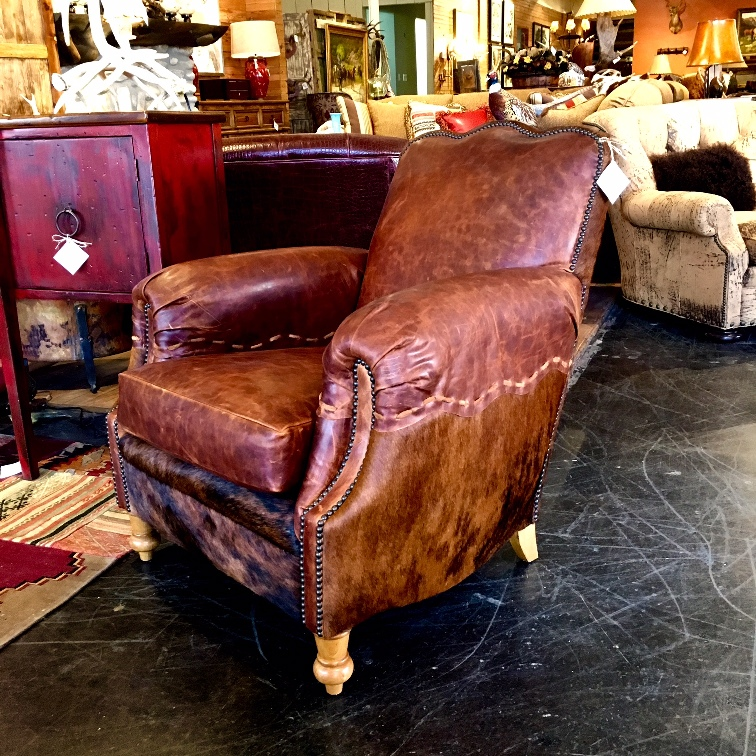rustic leather club chair at anteks dallas western furniture