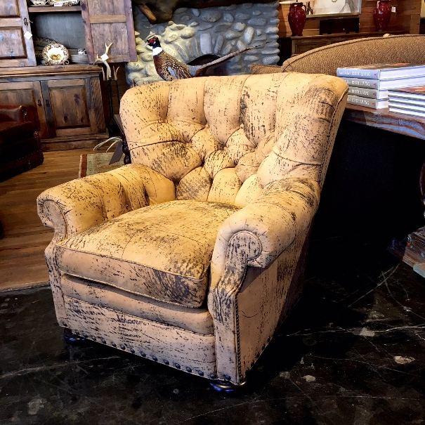 Rustic Western Style Lounge Chair At Anteks Furniture