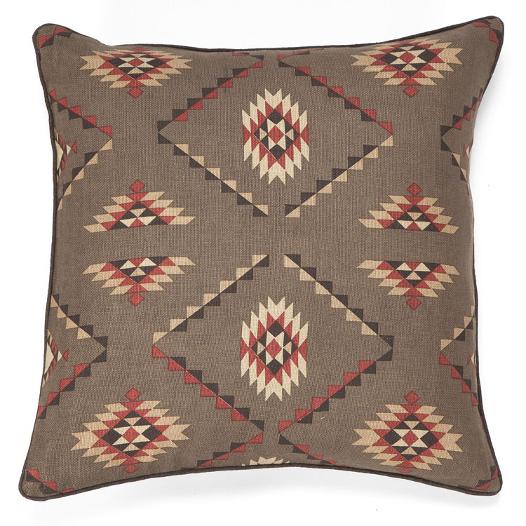 Southwestern Accent Pillows : Chocolate Southwestern Accent Pillow at Anteks Furniture Store in Dallas