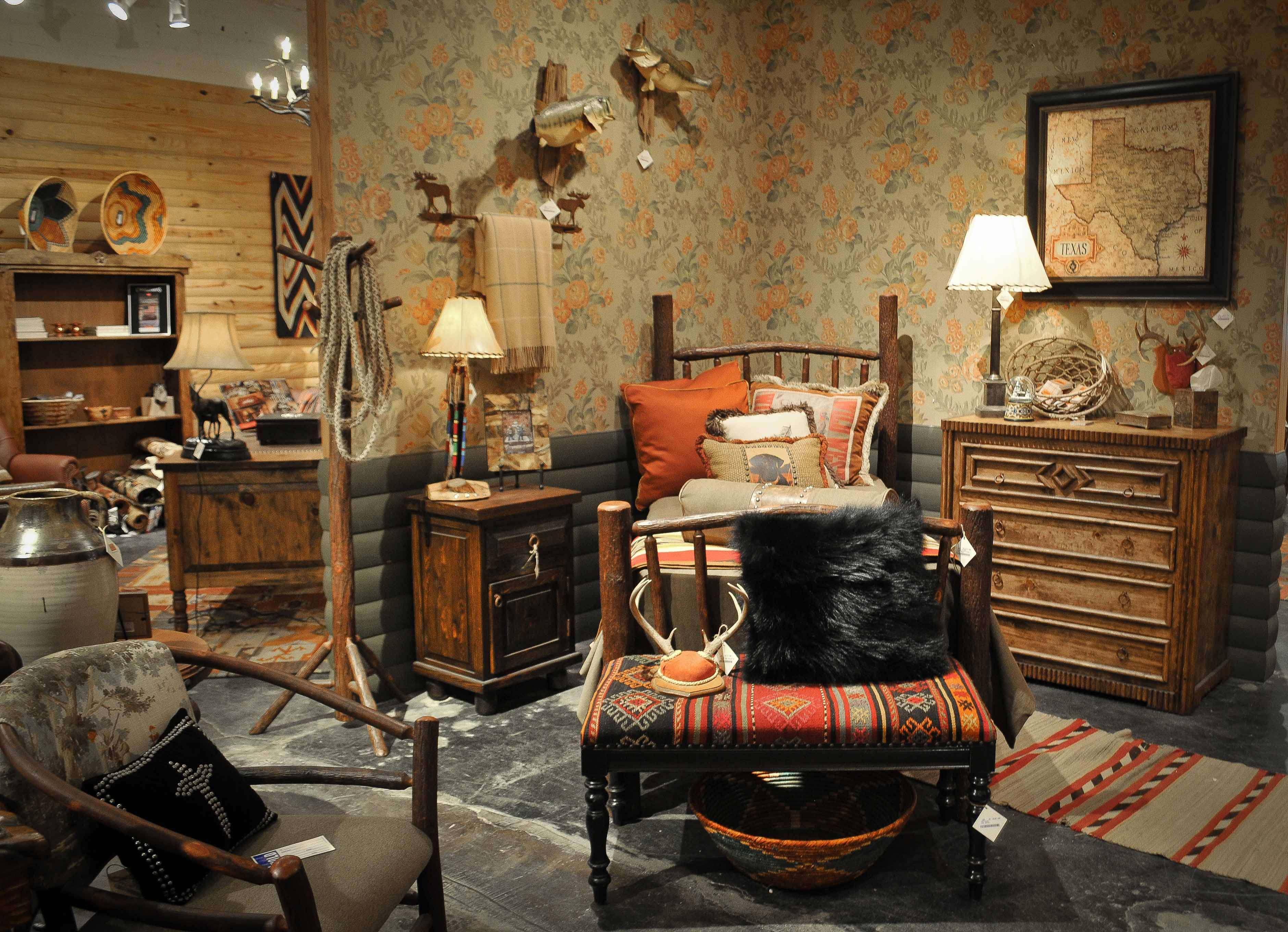 Rustic Bedroom Furniture At Anteks Furniture Store In Dallas
