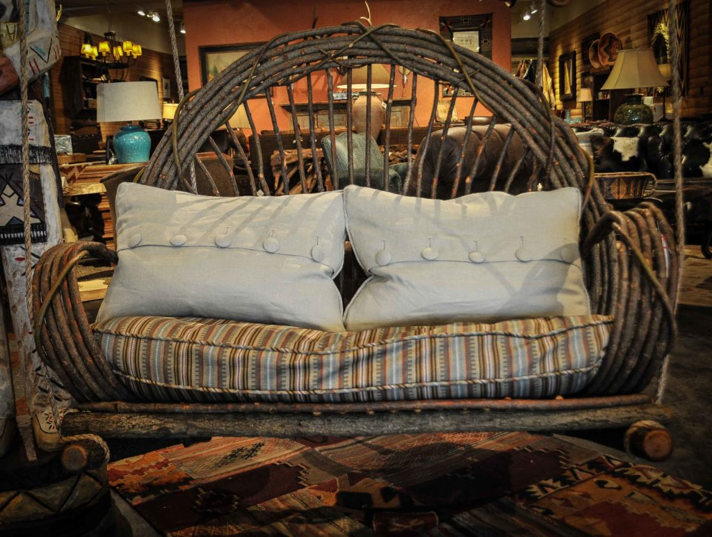 Twig Front Porch Swing At Anteks Furniture Store In Dallas