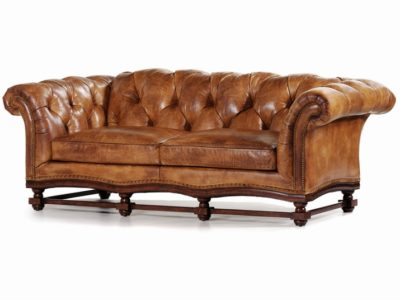 rustic brown leather teton sofa