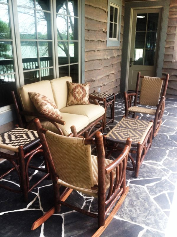 Rustic outdoor furniture at Anteks in Dallas