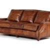 Hancock and Moore Leather Sofa in brown with studded detail