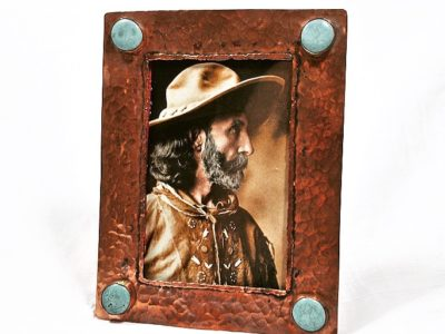 j alexander copper frame with turquoise stones
