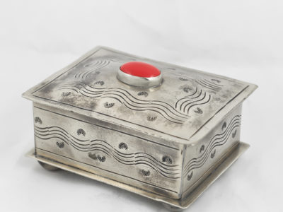 navajo box with coral