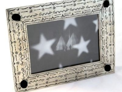 5x7 Stamped Picture Frame with Onyx