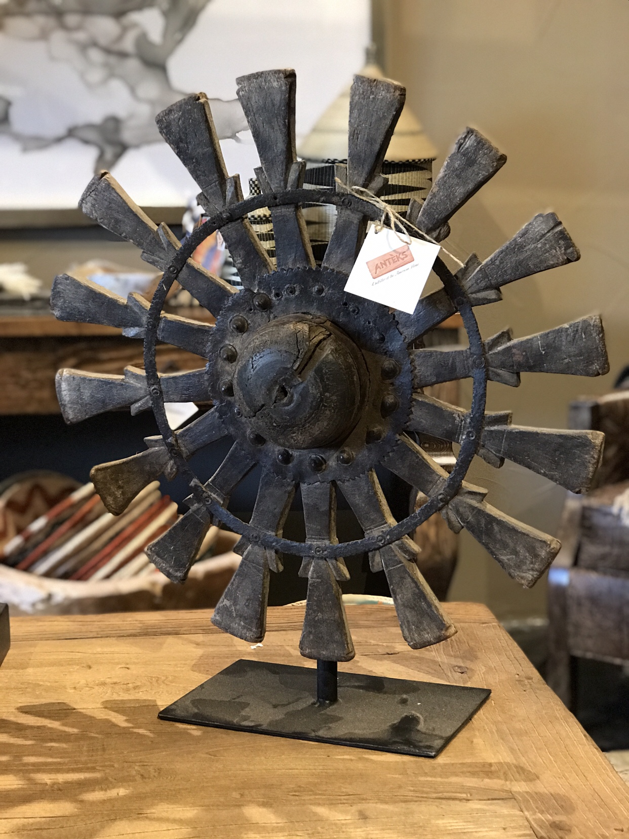 charkha remnant on stand