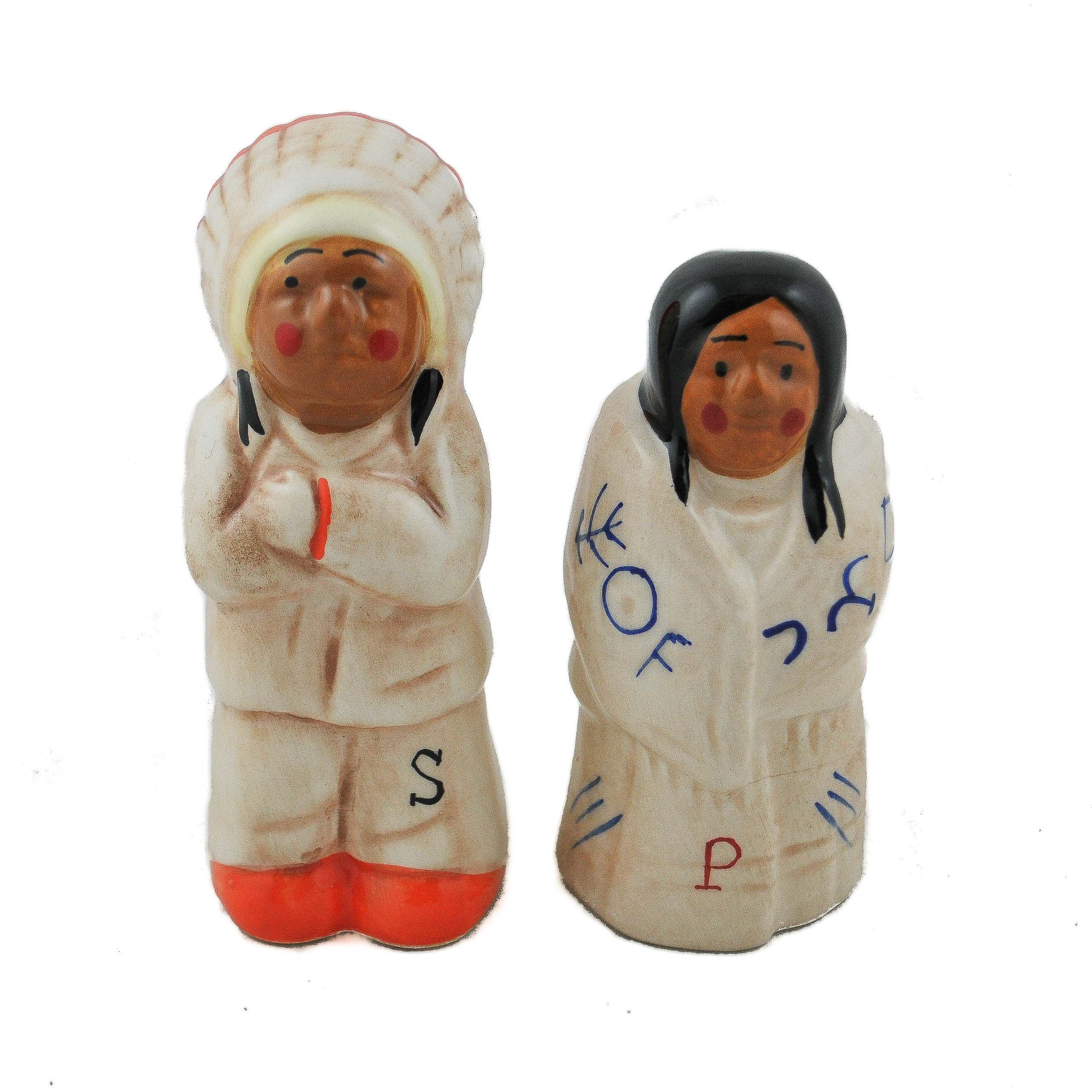 Native American Salt And Pepper Shakers