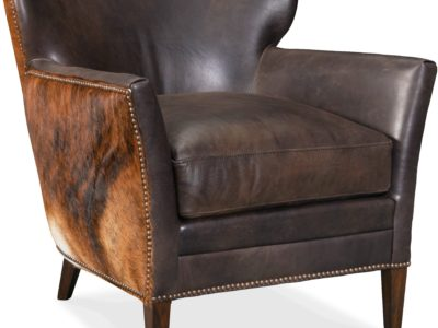 Leather and cowhide lounge chair