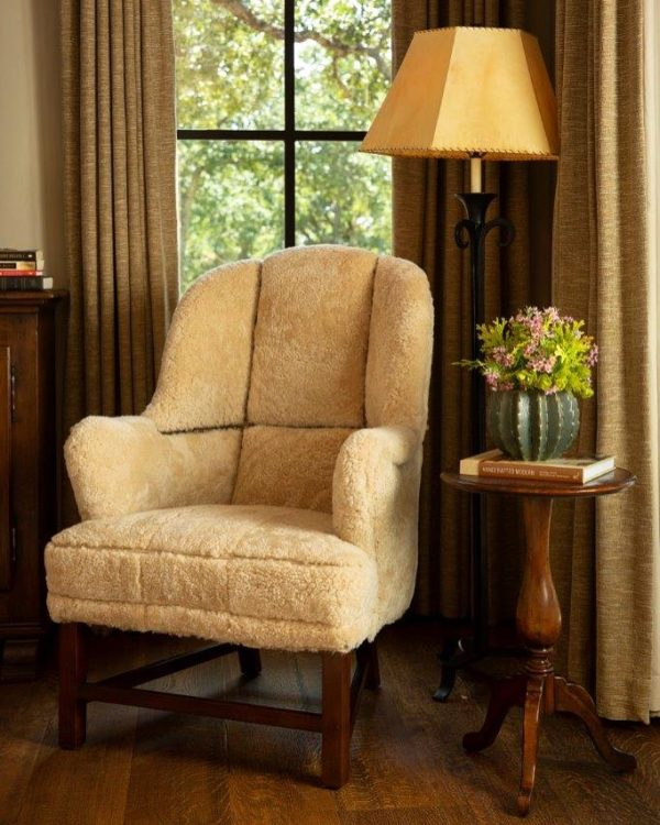 shearling chair