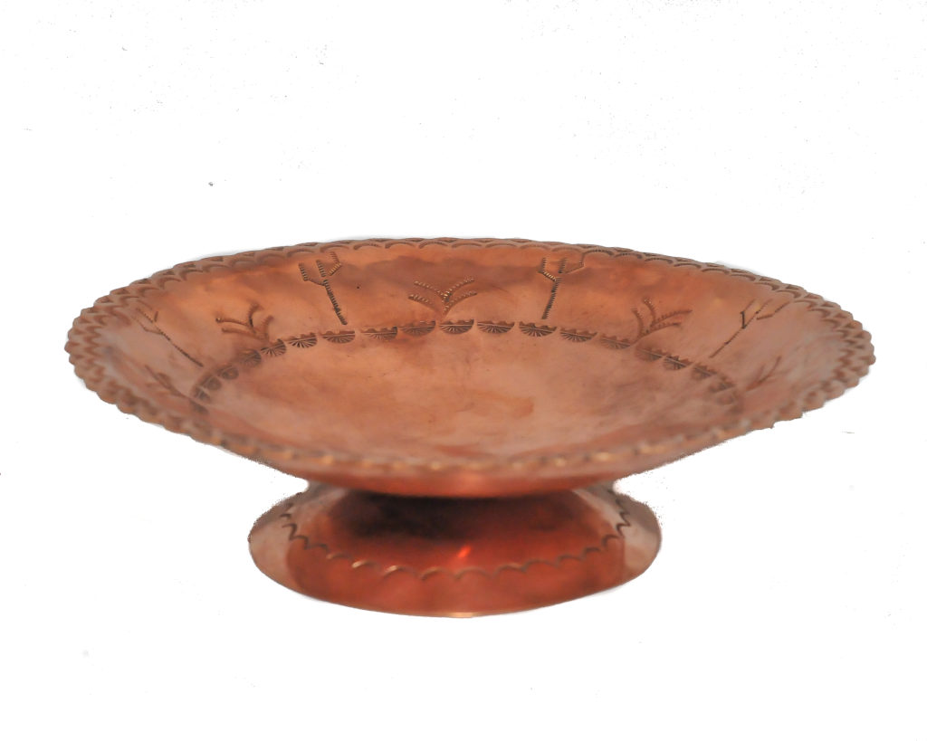 Stamped Med Copper Bowl At Anteks Furniture Store In Dallas
