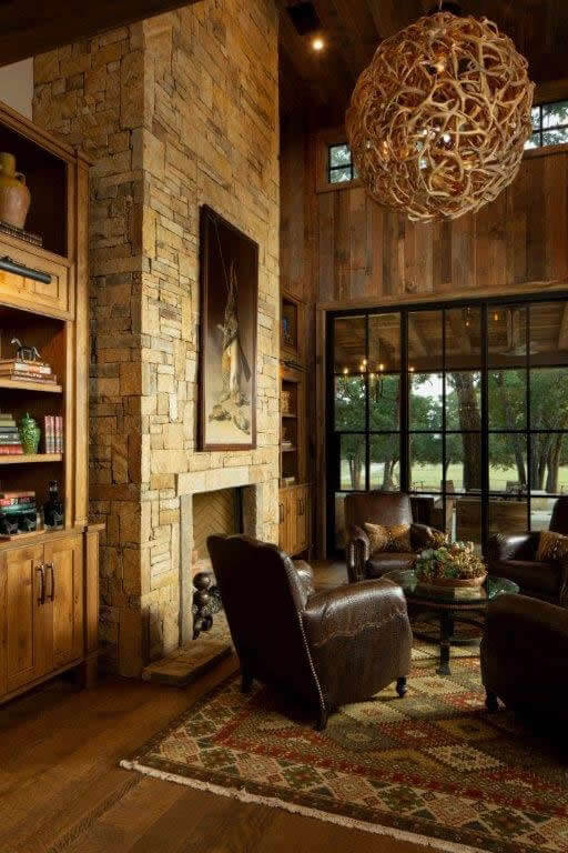 rustic library